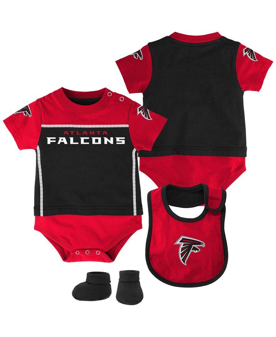 8efaece7 Outerstuff Babies' Atlanta Falcons Jersey Bodysuit, Bib & Bootie Set ...