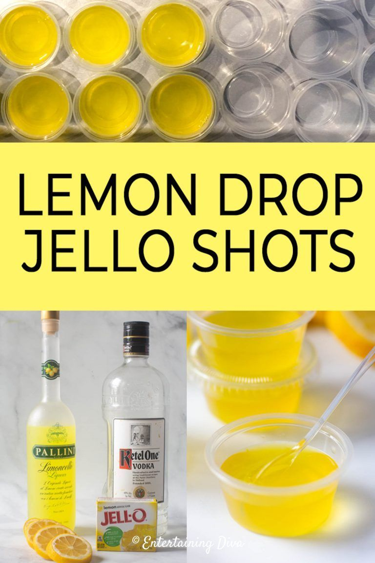 This lemon drop jello shots recipe made from vodka, Limoncello and real lemon juice is awesome! It tastes just like a lemon drop martini and is a great addition to your party cocktail list. #entertainingdiva #cocktail #drink #party #jelloshots  #recipesforacrowd #jelloshots