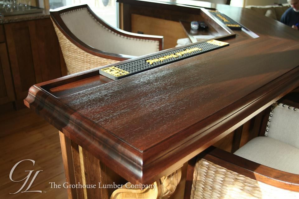Featured project of the week, Peruvian Walnut Wood Bar Top ...