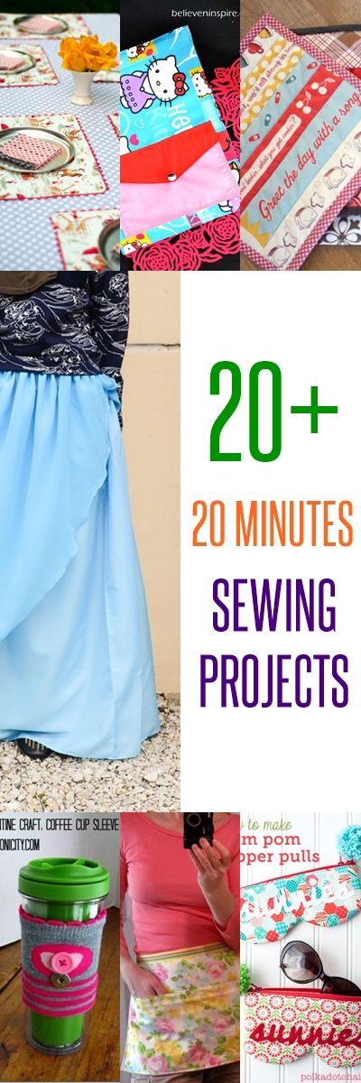 20 Super Cute 20 Minutes Sewing Projects | Sewing projects, Sewing ...