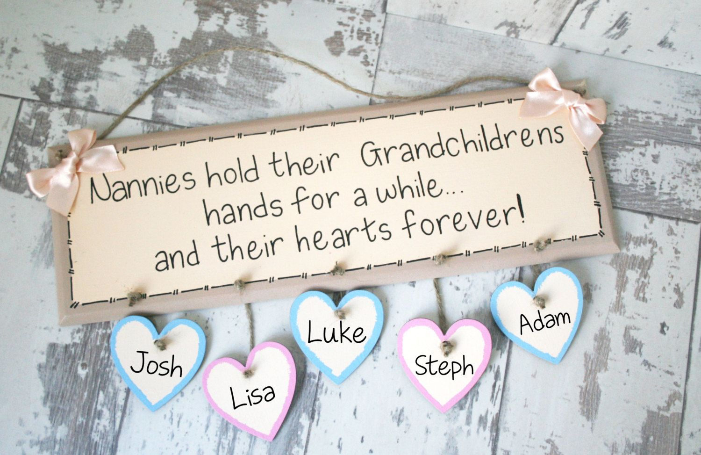 Gifts For Nan Nanny Birthday Gift Sign Grandchildren Grandma Christmas