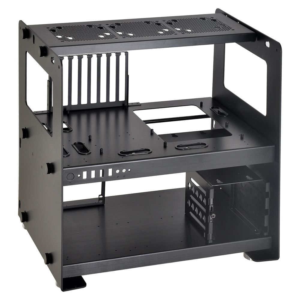 An Update To Their Previous Pc T60 Case The New Lian Li Pc T80 Employs A Modular Approach To Component Hous Custom Computer Custom Computer Case Computer Case