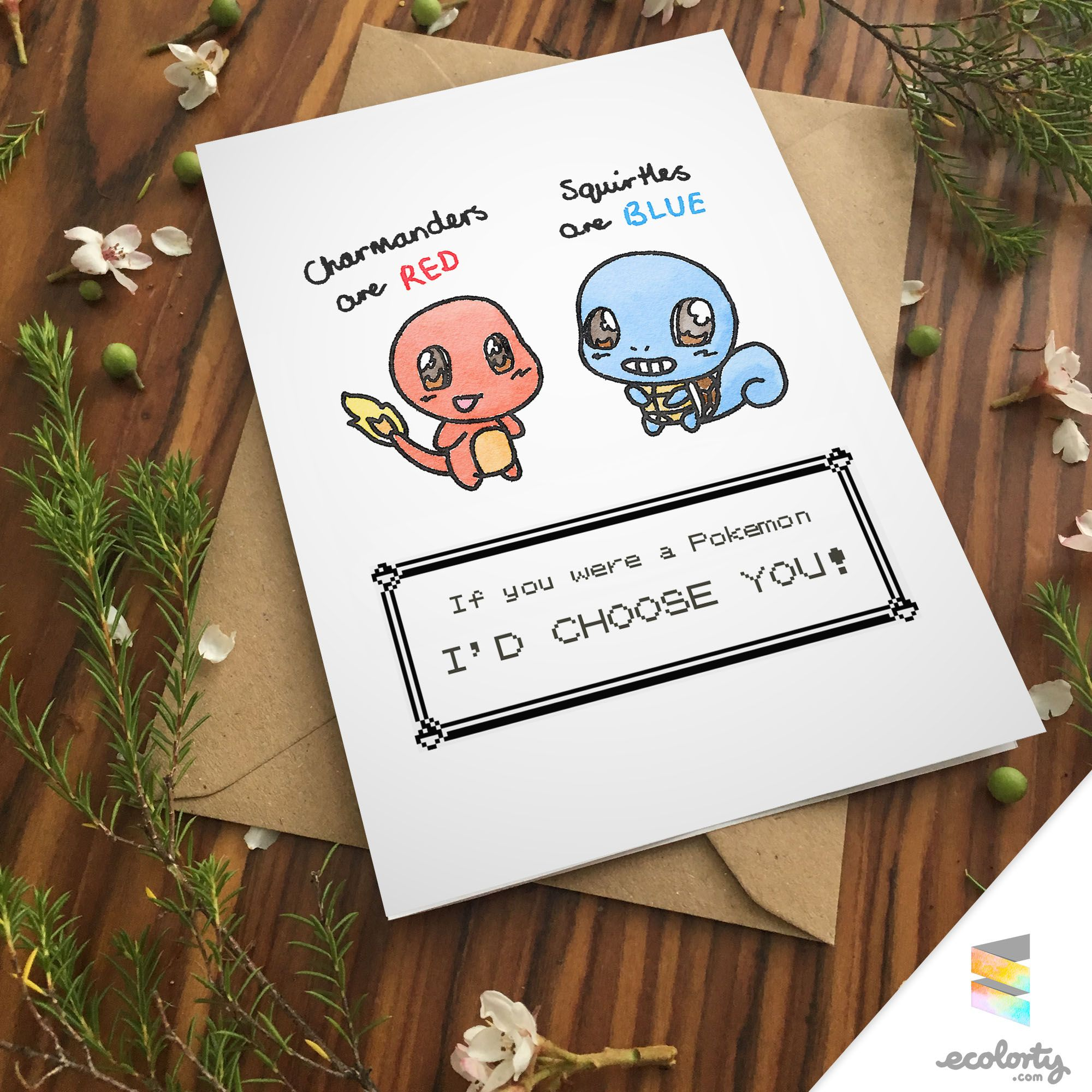 POKEMON GREETING CARD Charmander Squirtle