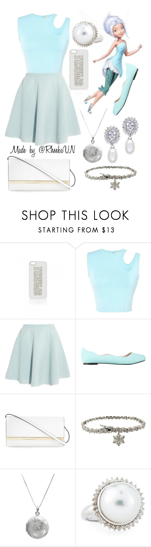 """""""Periwinkle"""" by rheebavn ❤ liked on Polyvore featuring Forever New, Thierry Mugler, Sonia by Sonia Rykiel, ZALORA, MICHAEL Michael Kors, Finesque, Belpearl and Arabella"""
