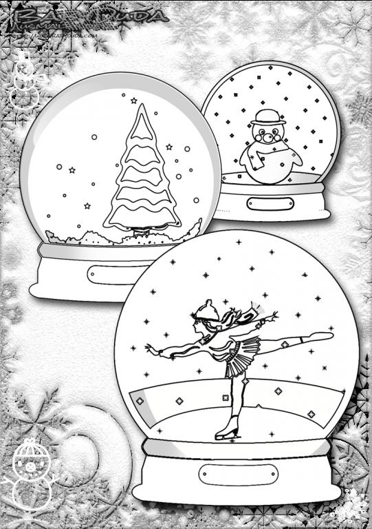 Weihnachtsbilder Ausmalen ★ Weihnachtsmann BabyDuda