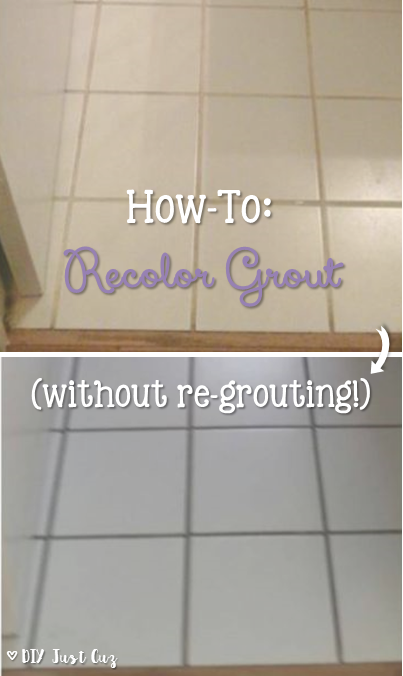 Want A New Look For Your Grout Take At This Simple How To Changing The Color Of Today Diyjustcuz
