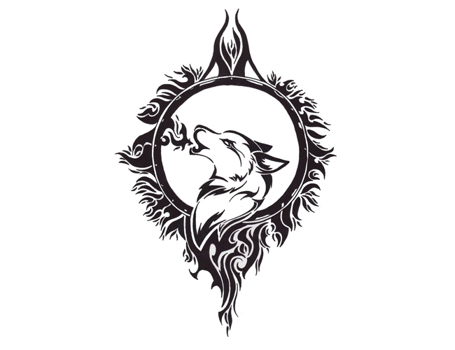 Wolf And Moon Tribal Wolf Tattoo Celtic Wolf Tattoo Wolf And Moon Tattoo