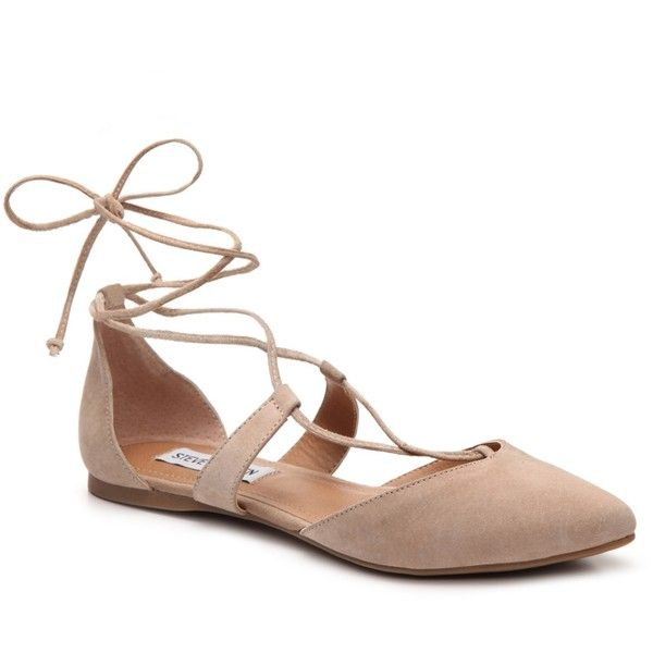 Steve Madden Britzi Flat ($55) ❤ liked on Polyvore featuring shoes, flats,