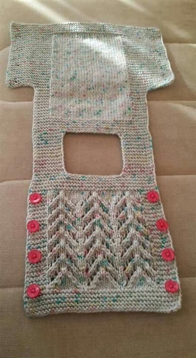 LAYETTE SET MERINO BIRTH-1 MONTH STRIPED ECRU AND BLUE KNITTED HAND BR - Best Knitting Pattern #cardigans