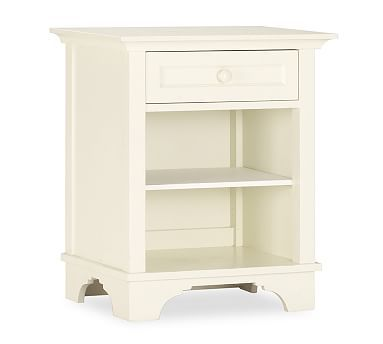 Cynthia Bedside Table Antique White Other Antiques And The Ojays - Pottery barn white bedside table