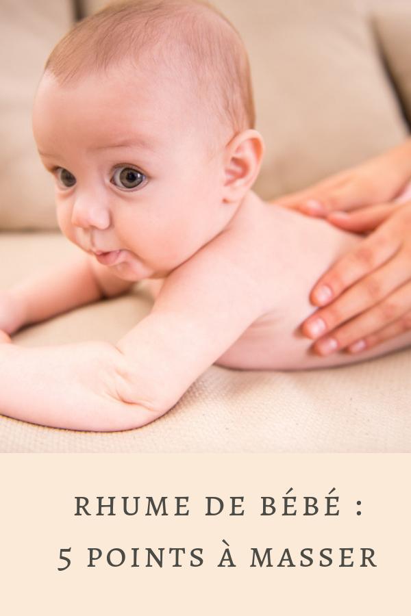 Pour prévenir le rhume de bébé, pourquoi ne pas opter pour le massage ?