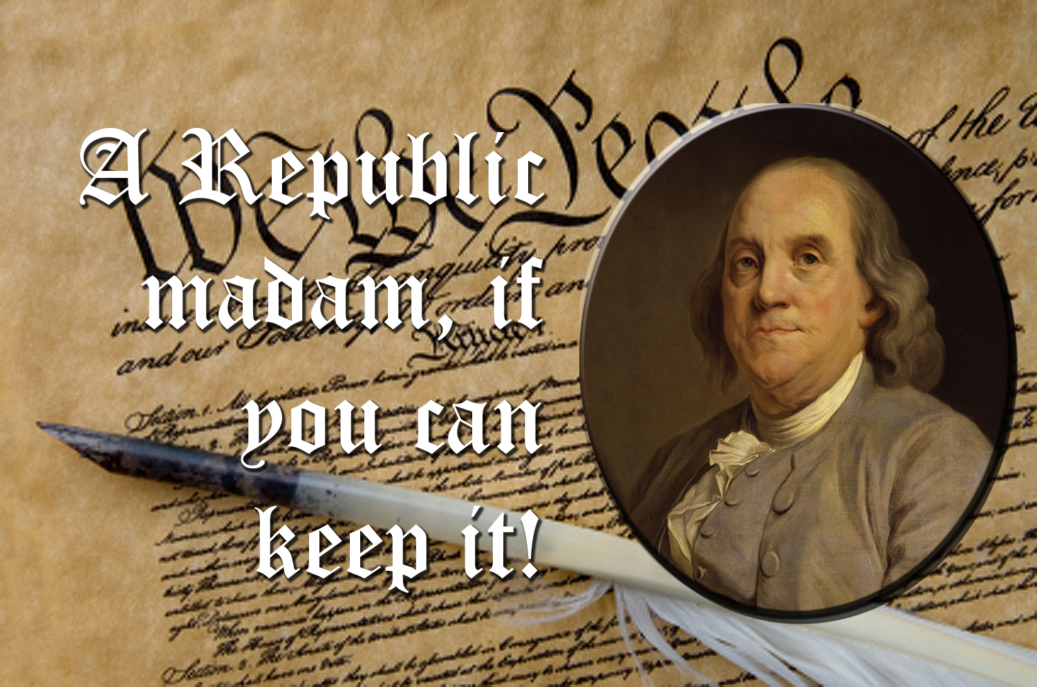 Image Result For Ben Franklin A Republic If You Can Keep It