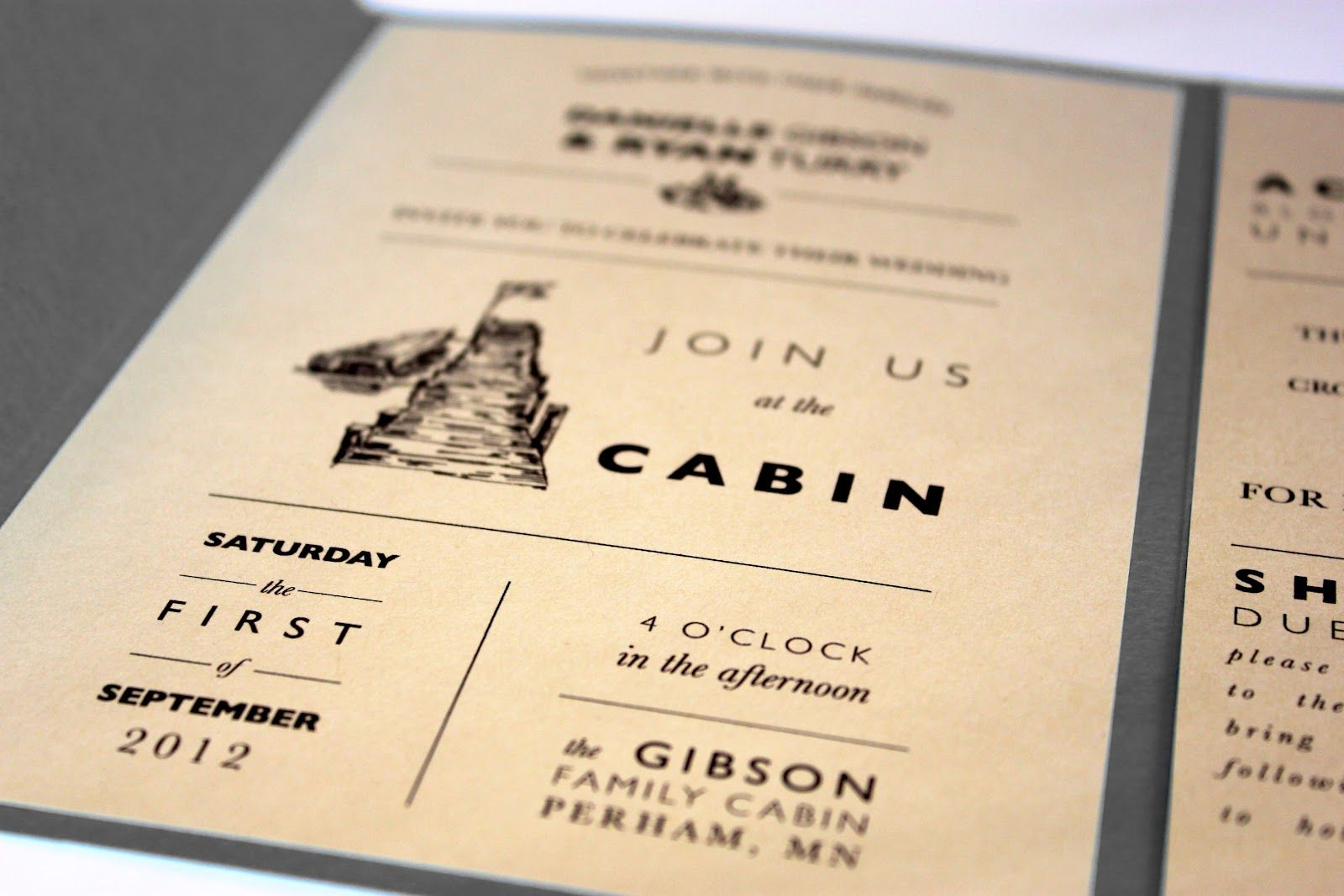 How Big Are Wedding Invitations: Cabin Themed Wedding Invites