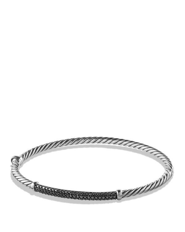 11f194dcbf65a2 David Yurman Petite Pave Bracelet with Black Diamonds