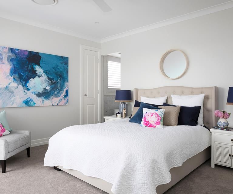 Refreshed Hamptons Style Reigns In This New Build Hamptons Style Hamptons Style Bedrooms The Hamptons