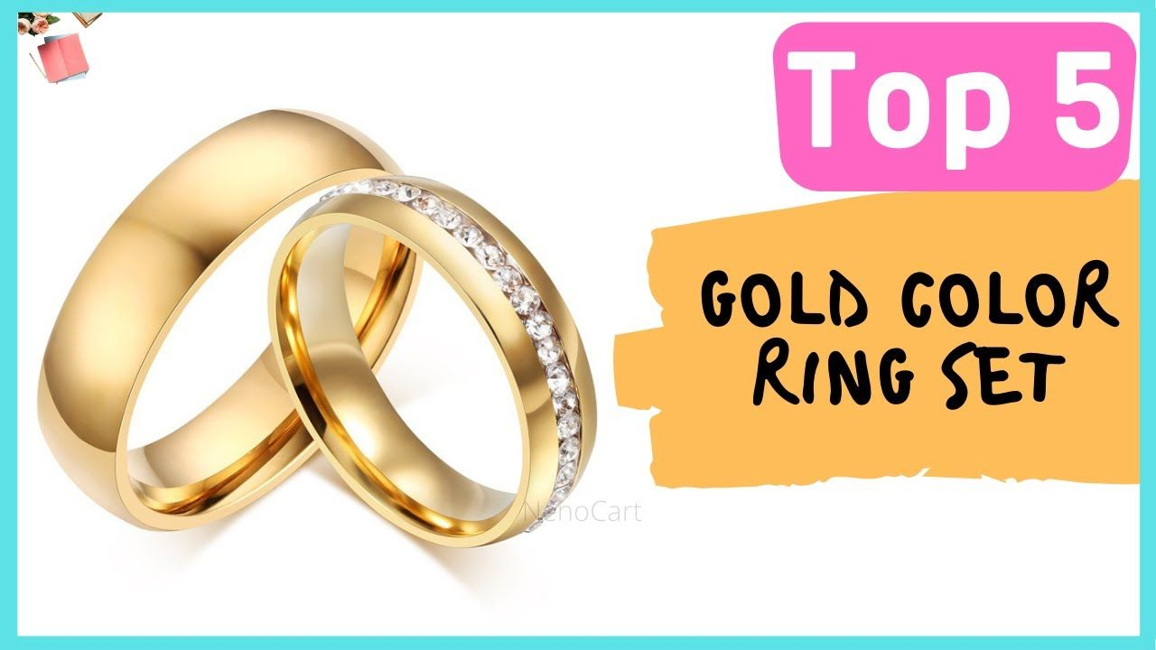 Gold Color Ring Set With Cheap Price 2020 Gold Color Ring Color Ring Wedding Rings