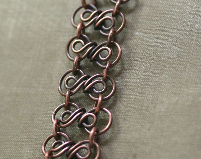 link copper antique pin bracelet links