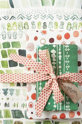 watercolor christmas wrapping paper