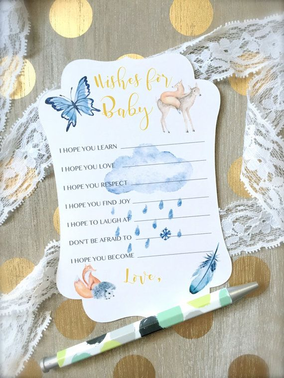 Wishes for baby cards baby shower cards baby by PaperLovePrints #babyshowergames #wishesforbaby