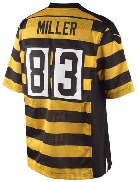 Pittsburgh Steelers Nike #83 Heath Miller Limited Throwback Jersey ...