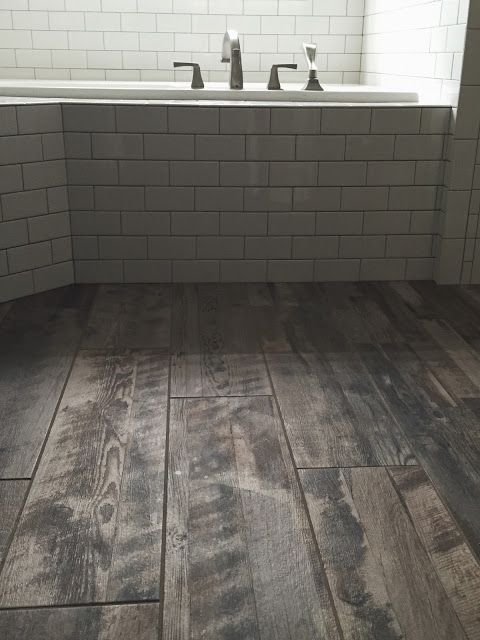 daltile subway tile, marazzi wood tile floor, custom pro fusion gold  glitter grout, - Dark Ceramic Tile Wood Plank Colorado Flooring Options: Wide