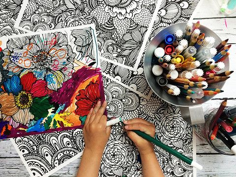 Coloring Pages For January Month : Tribal designs coloring pages mandala