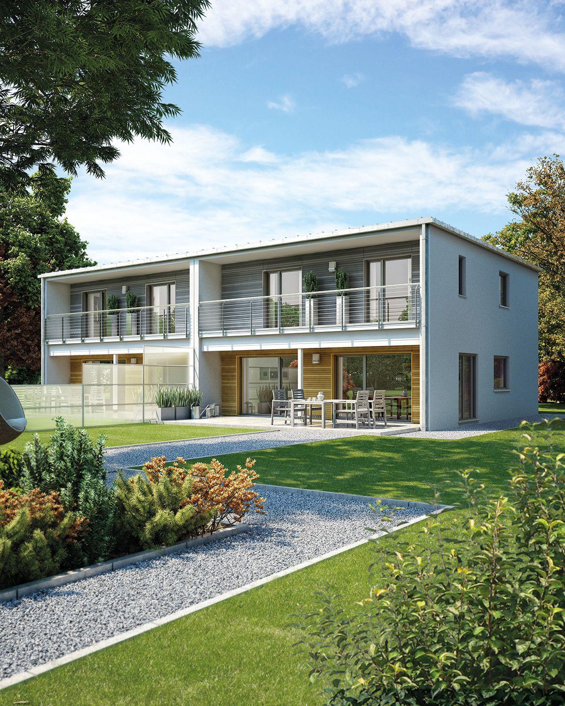 Fertighaus Doppelhaus 131 Haus, Mehrfamilienhaus bauen