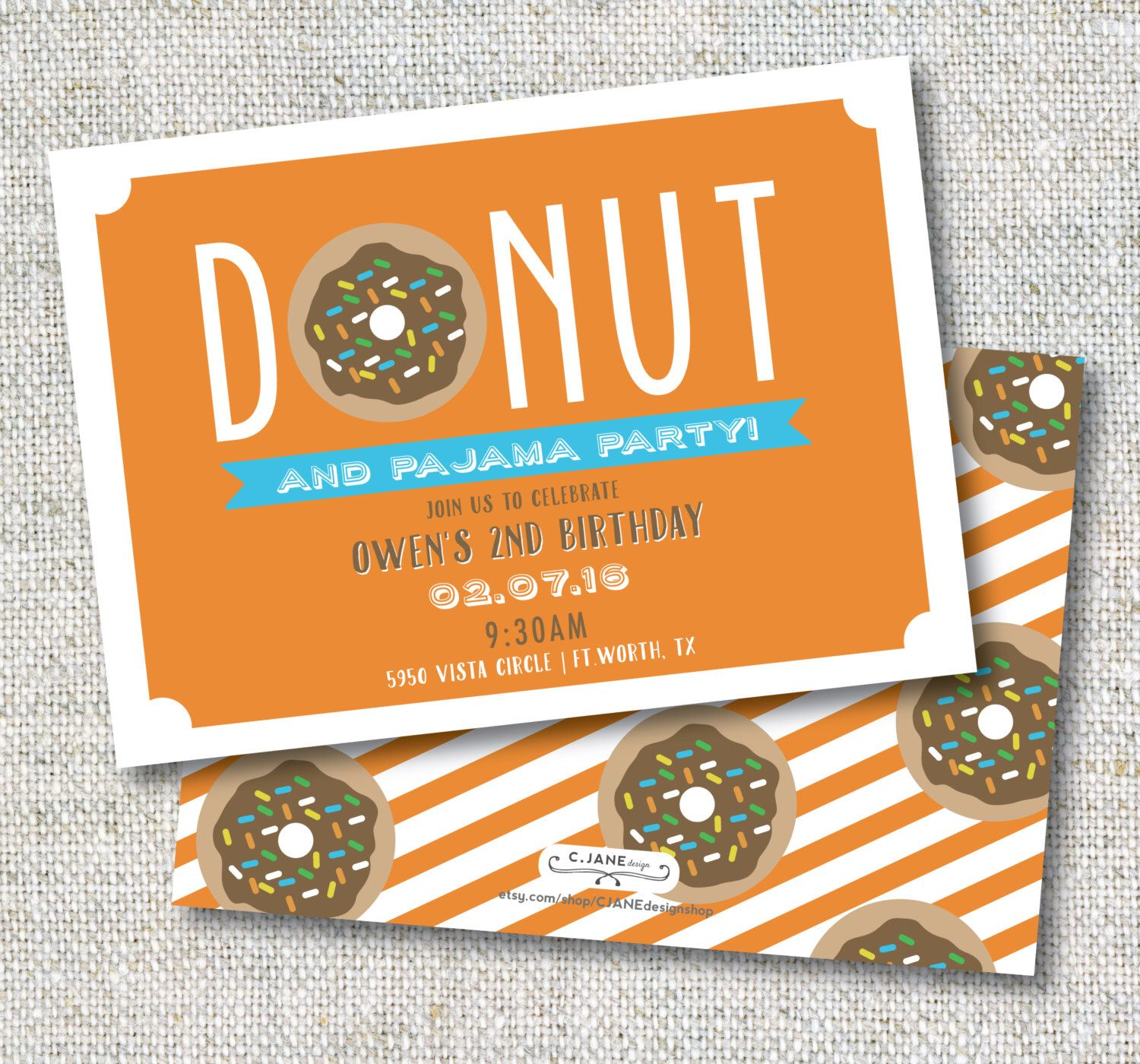 Donuts and Pajama Party: Boy Birthday, Donut Party, Pajama Party, Invitation, Printable, Customizable by CJANEdesignshop on Etsy https://www.etsy.com/listing/263154541/donuts-and-pajama-party-boy-birthday                                                                                                                                                                                 More