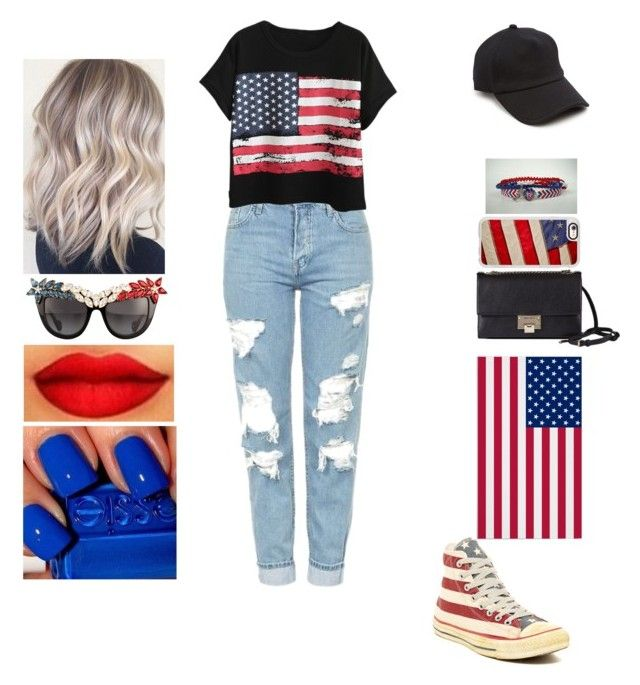 """4th July"" by insafsat on Polyvore featuring Topshop, Chicnova Fashion, Converse, Jimmy Choo, Anna-Karin Karlsson, rag & bone and Casetify"