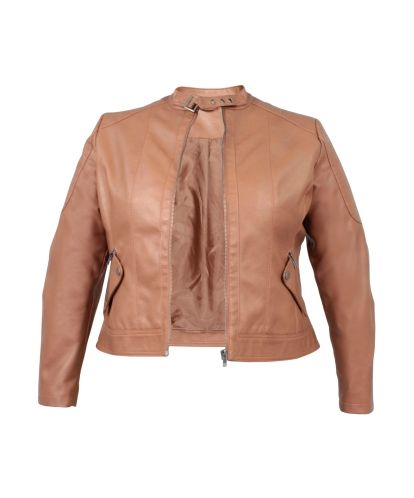 #tanleatherjacket #Donna Claire