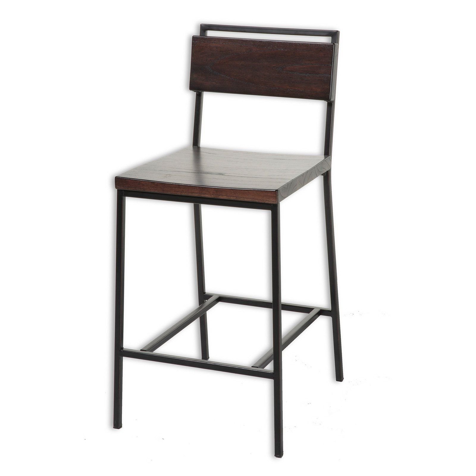 Fashion Bed Group Olympia 26 in Counter Stool Matte Black