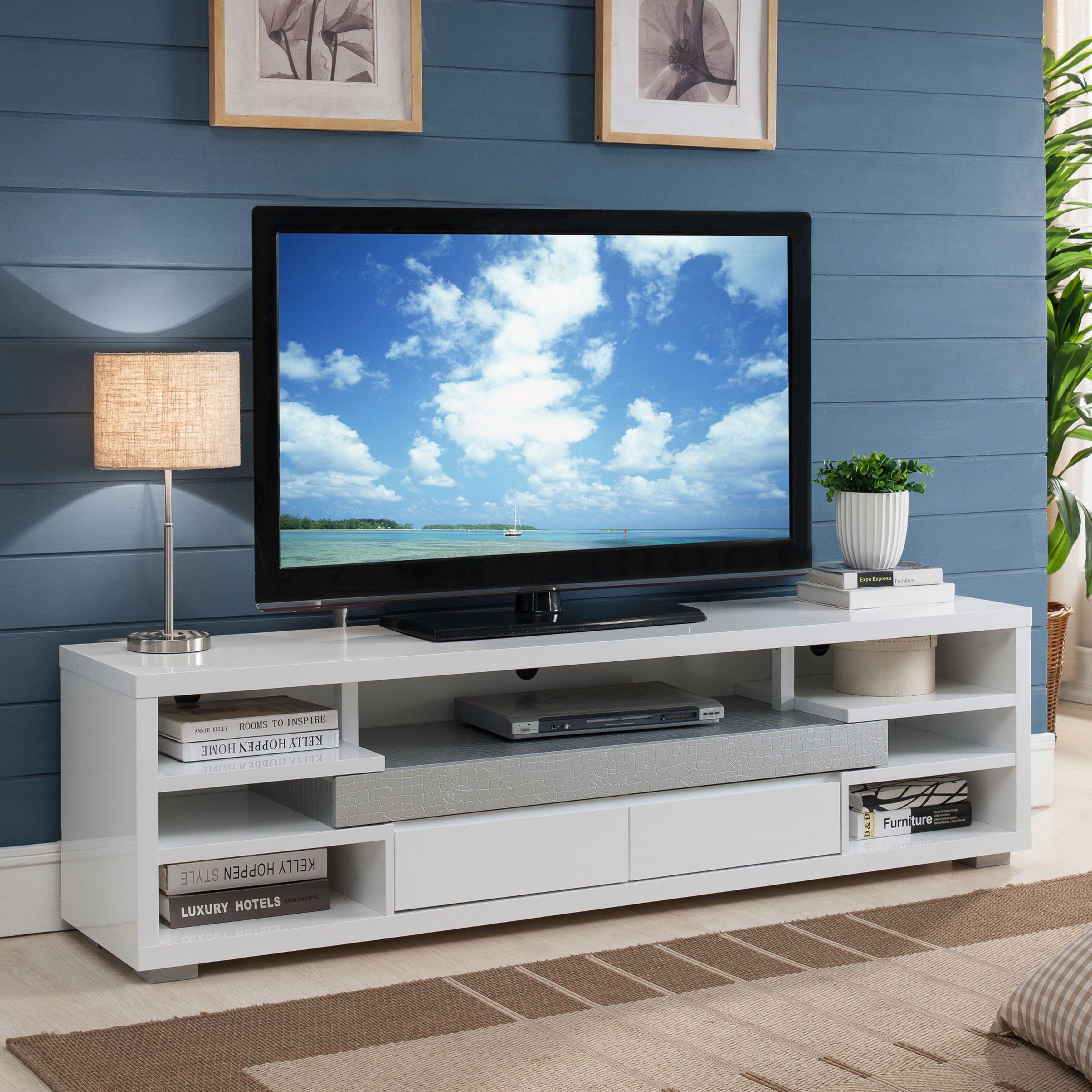 Furniture Of America Everett Contemporary White Multi Storage 70