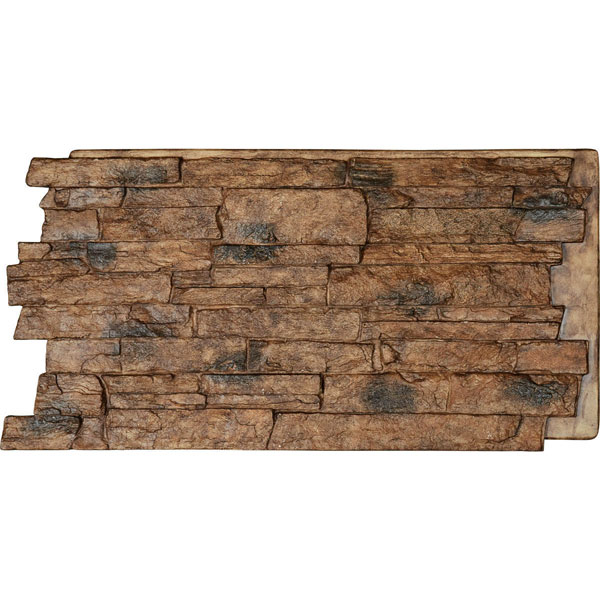48 Inch W X 24 Inch H X 1 1 4 Inch D Acadia Ledge Stacked Stone Stonewall Faux Stone Siding Panel Canyon Brown Faux Stone Siding Stone Siding Panels Faux Stone Veneer