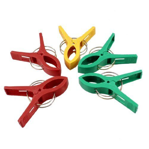 Amico Laundry Clothes Green Yellow Red Plastic Clips Clamps 5 Pcs By Amico 4 97 Total Size Each Red Green Yellow Bedclothes Kitchen Storage Organization