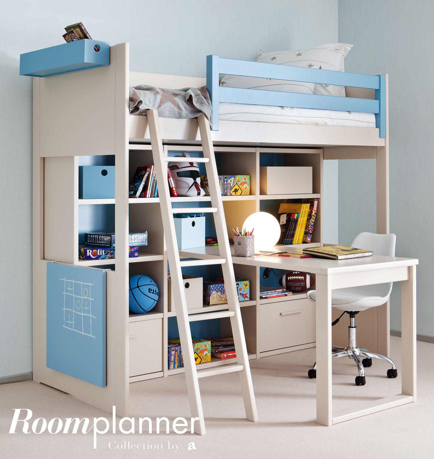 superbe composition lit mezzanine enfant bureau et rangements fabrication espagnole 20 couleurs au choix certification pefc