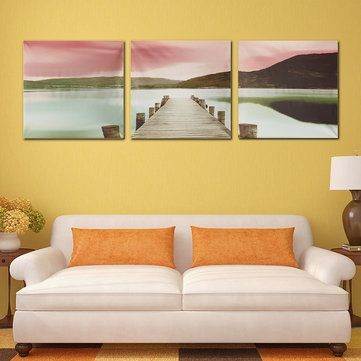 3PCS Unframed Bridge Landscape Canvas Oil Painting Home Decoration  pretty home decor, hajj decor, marakesh decor #homedecorideas #homedecorationideas #homedecorate