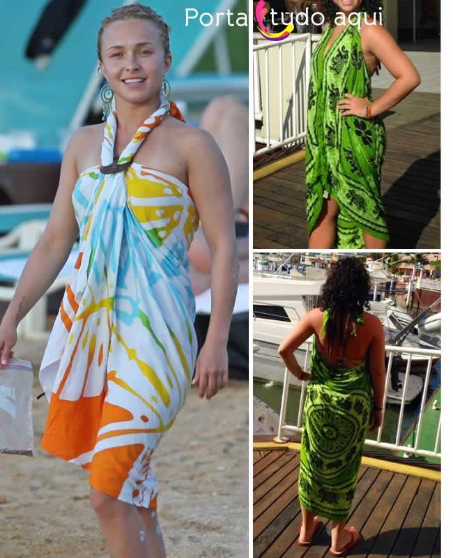 ec368a1bd42ced Como usar canga | Beach Casuals | Canga de praia, Vestido de praia e ...