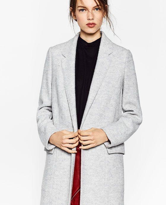 bas prix 84b8a d2948 Image 4 de MANTEAU MI-LONG EN LAINE de Zara | Manteaux ...