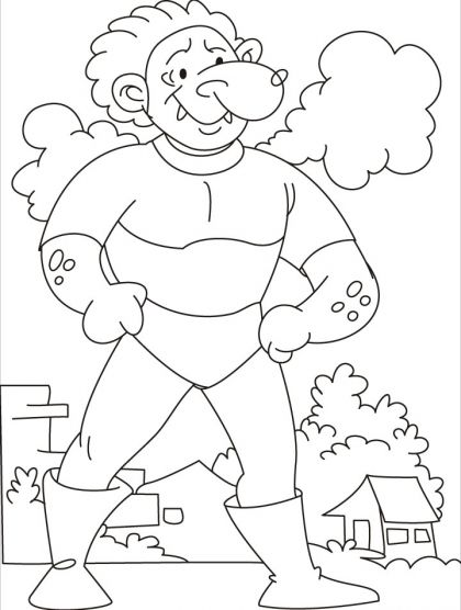 Come, test your strength says the tarzan giant coloring pages ...