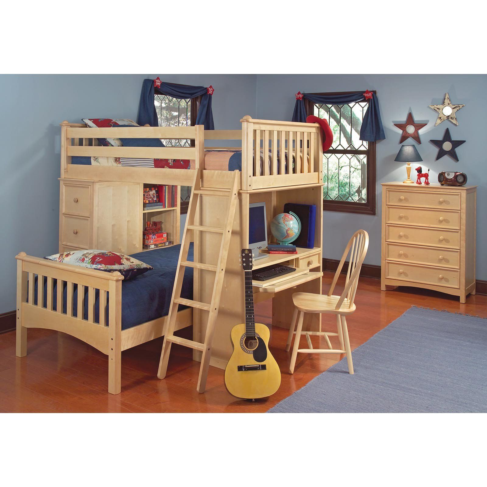 Twin bed loft bed  Cooley SSS Twin Loft Bed   from hayneedle  loft bed designs
