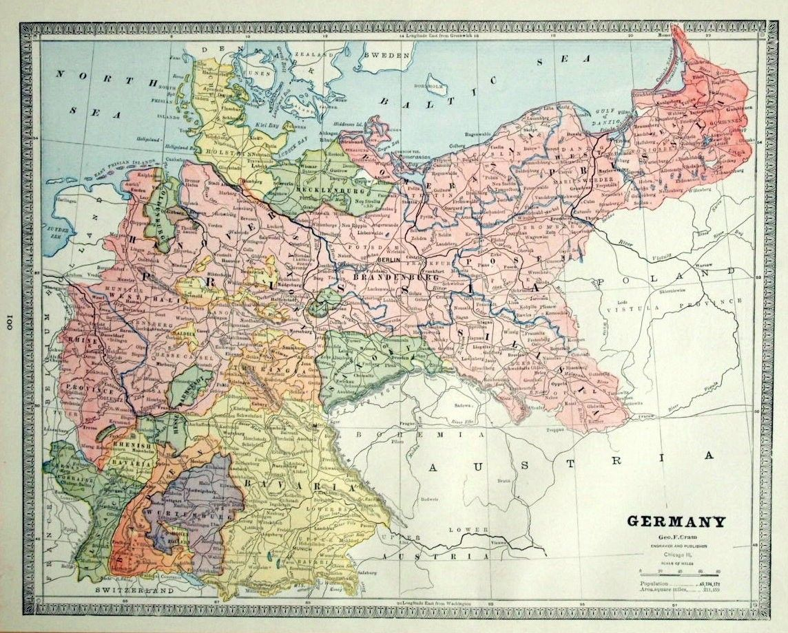 map of prussia from the s  westphalia and the rhine province. map of prussia from the s  westphalia and the rhine province