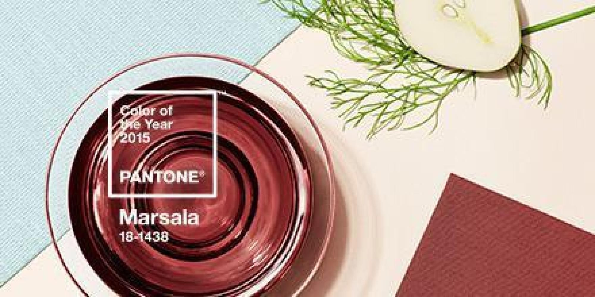 New York Ap Let S Hear It For Marsala The Wine Influenced Red Kissed Color Of 2015 As Chosen By Pantone Hardy Robu With Images Pantone Color Of The Year Marsala