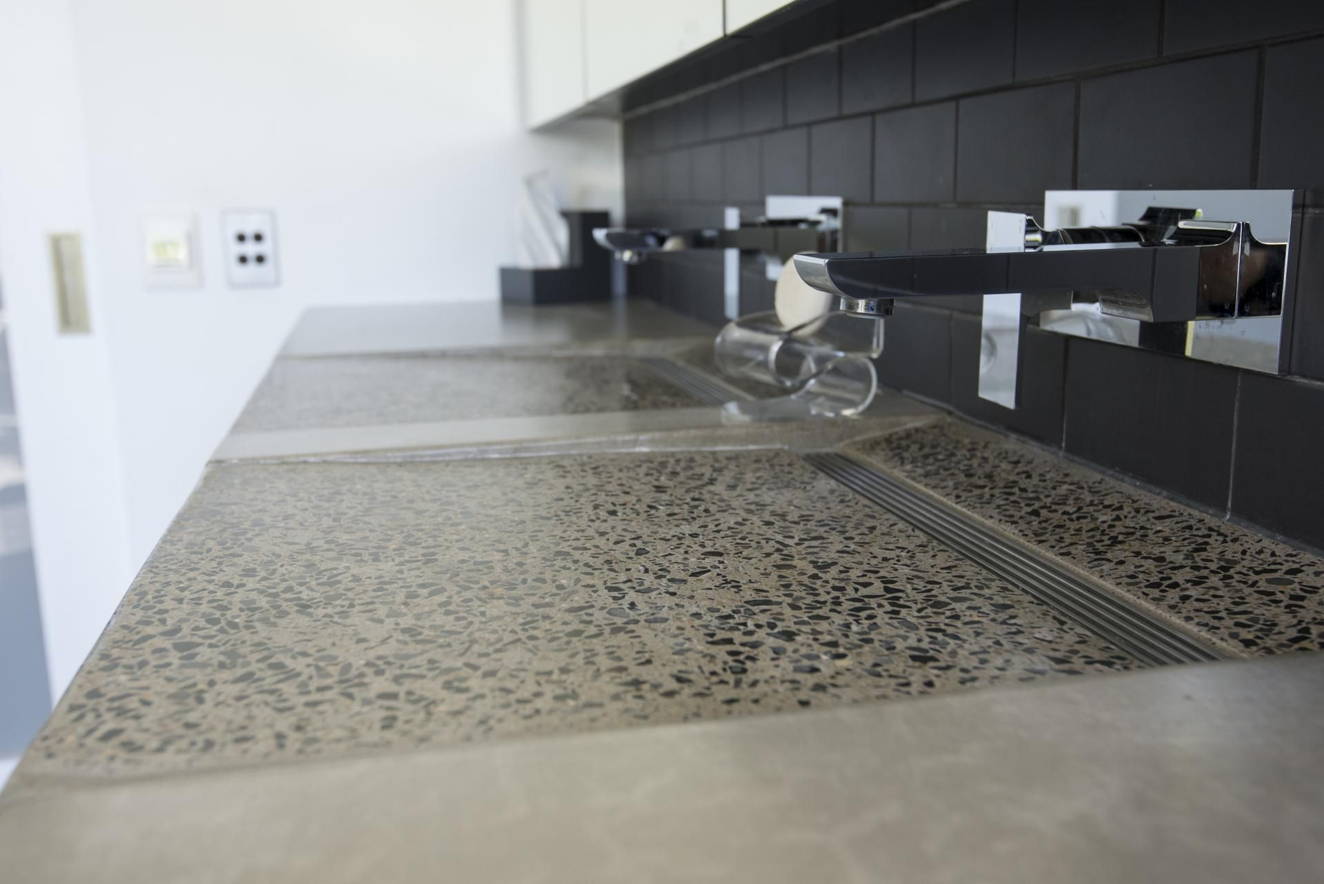 Concreate polished concrete bathroom benchtop by concreate