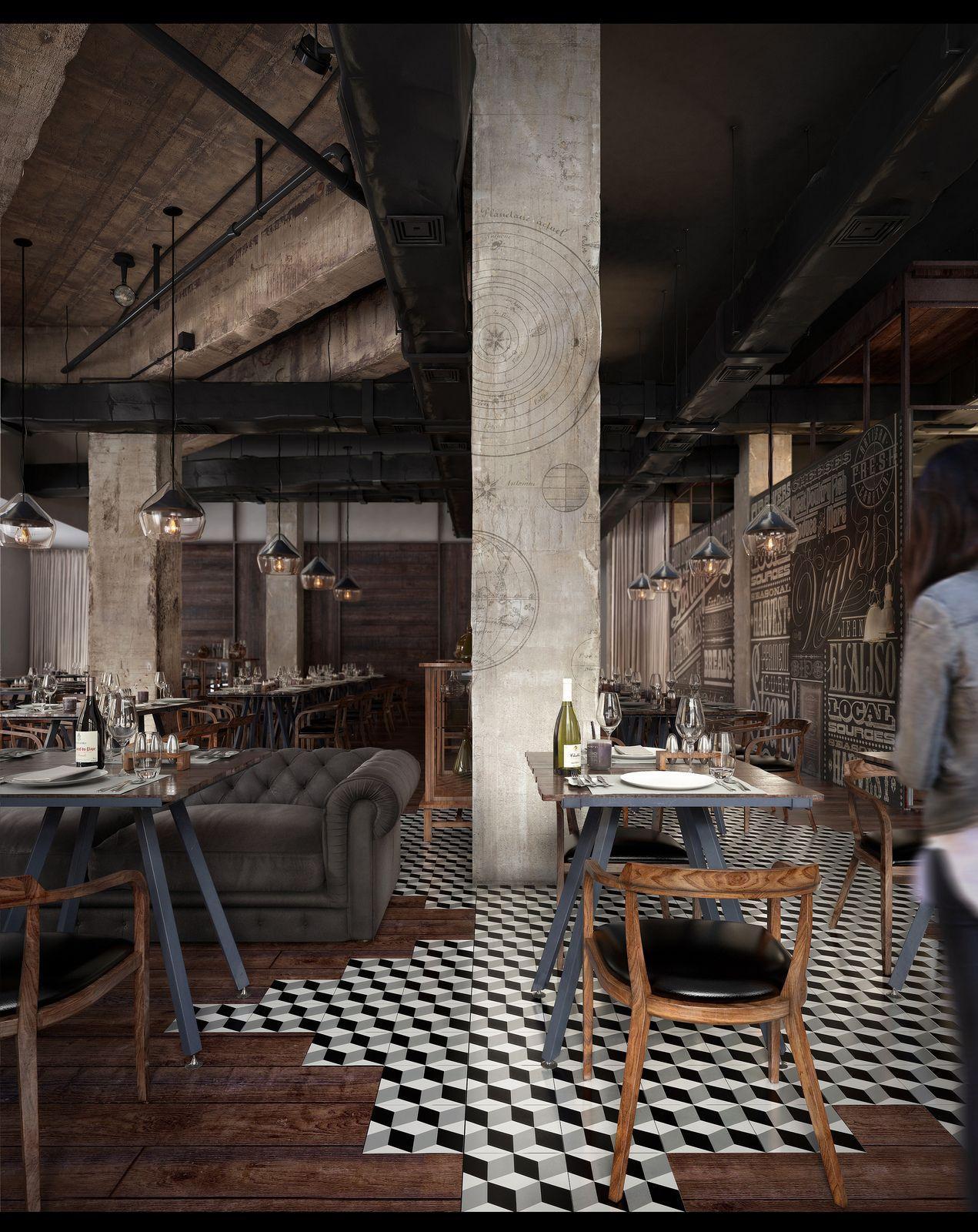 Mercato restaurant horeca design pinterest caf for Deko inneneinrichtung