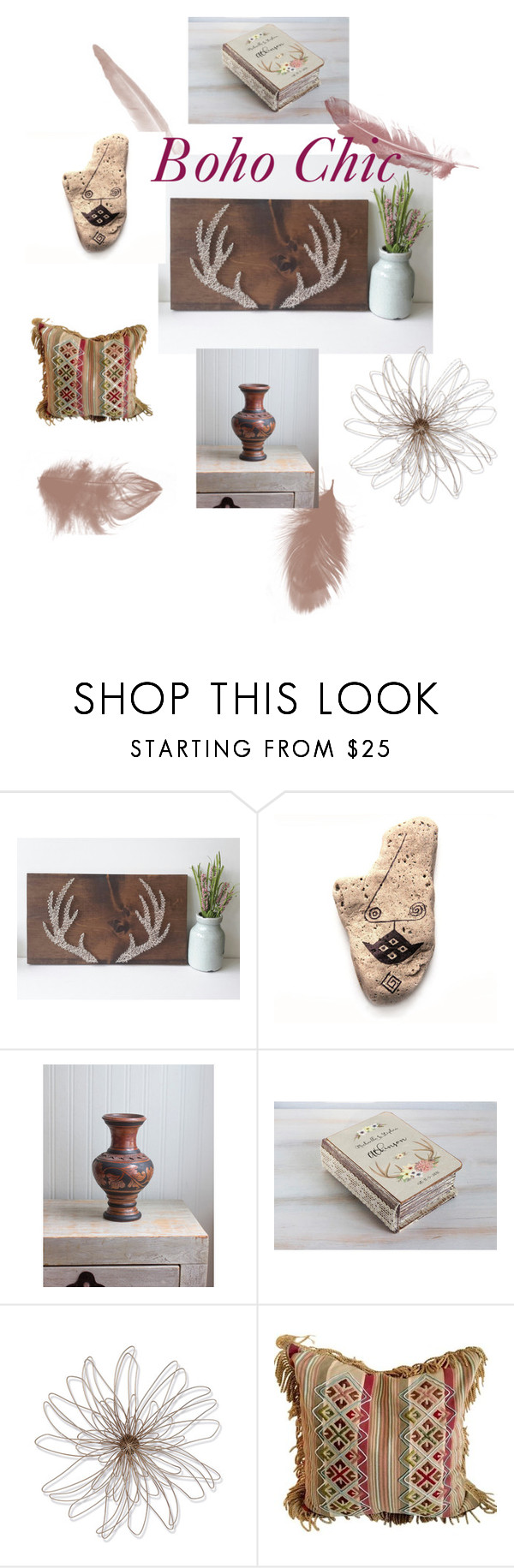 Boho Chic by mollysmuses on Polyvore featuring interior, interiors, interior design, home, home decor, interior decorating, Foreside, vintage, boho and Bohemian