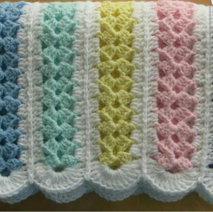 Magnífico Los Patrones De Crochet Libre Para Mantas De Bebé En ...