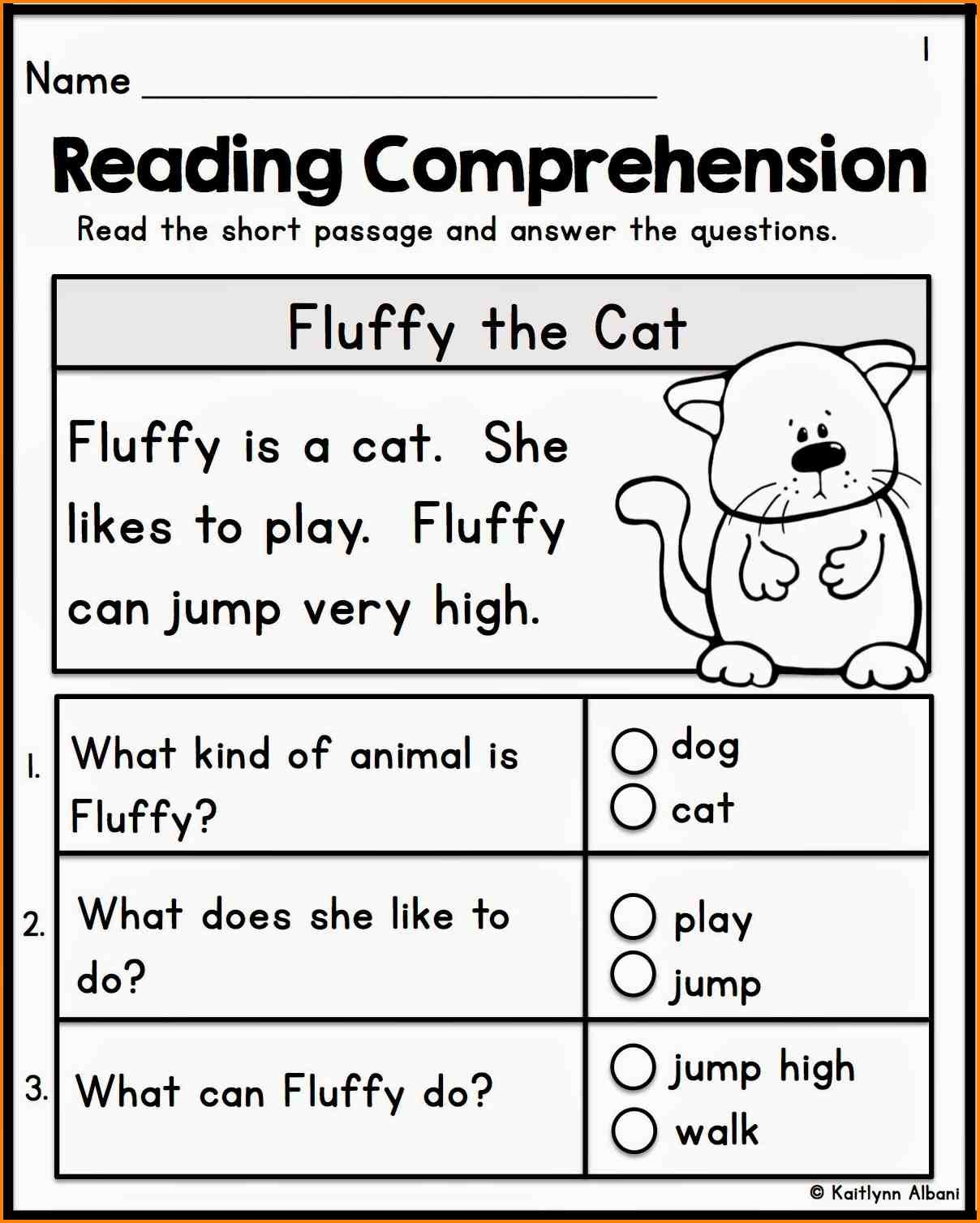 Reading Comprehension For Preschool Preschoolworksheet