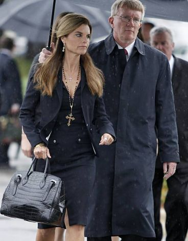 Maria Shriver arrives at the John F. Kennedy Presidential Library in Boston where the casket of Sen. Edward Kennedy would depart from for his funeral Mass. August 29th 2009. Photo credit - Michael Dwyer, Associated Press.