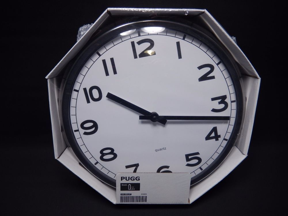 Details About New Ikea Pynta White Wall Clock White Wall