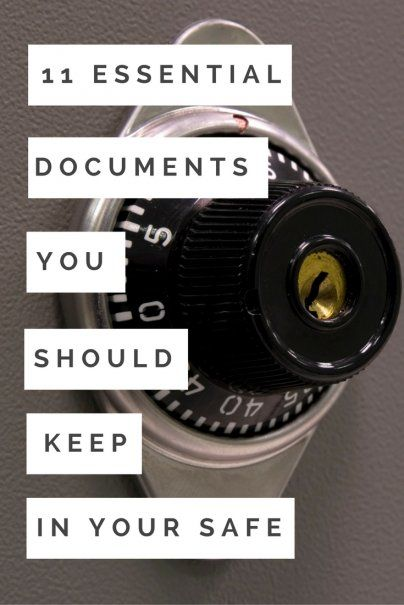 11 Essential Documents You Should Keep in Your Safe